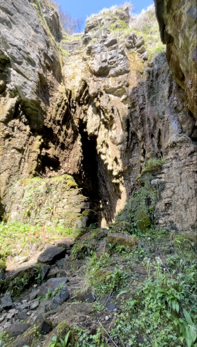 the wall outside spar cave