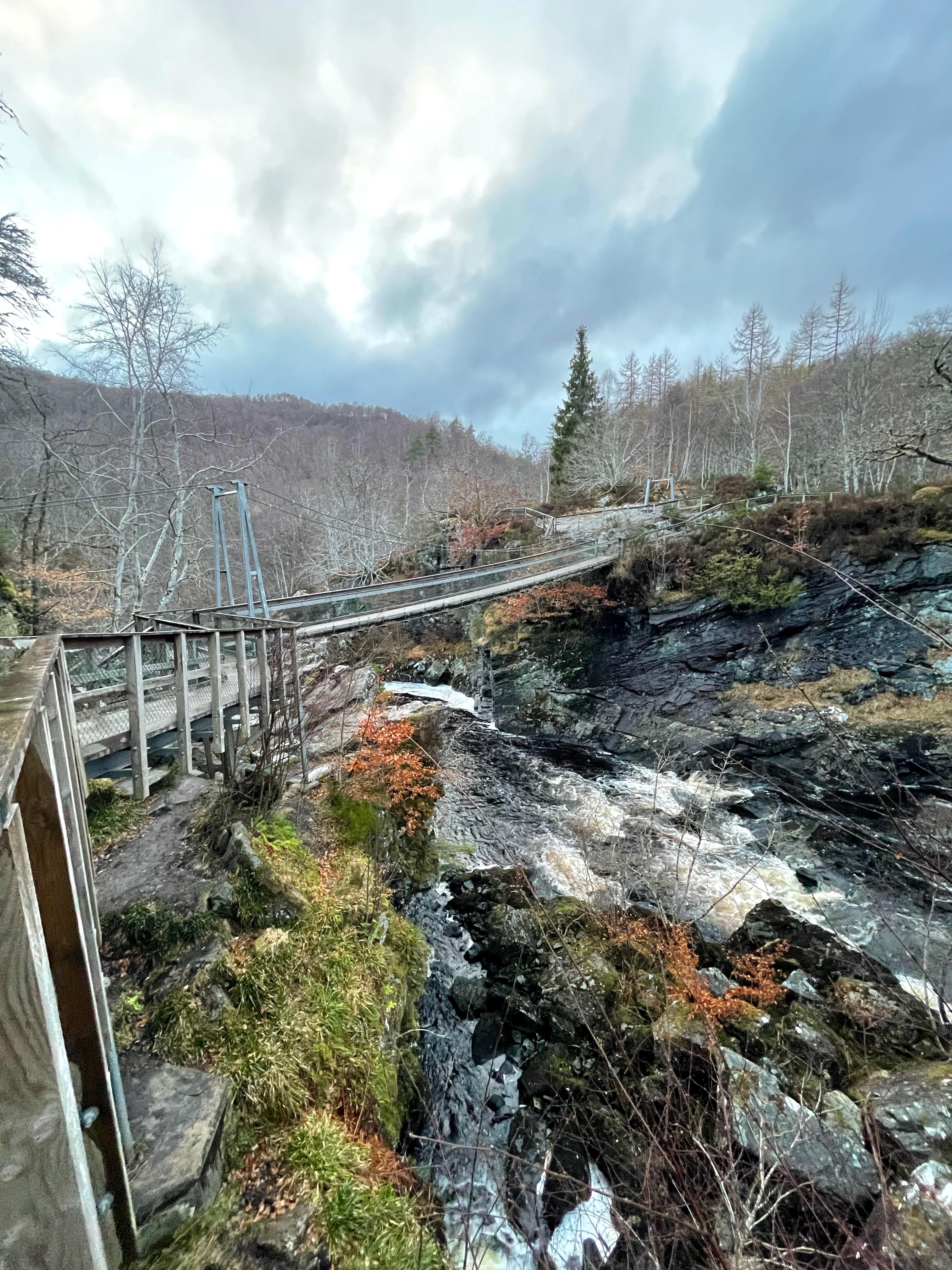 Rogie Falls Suspension Bridge