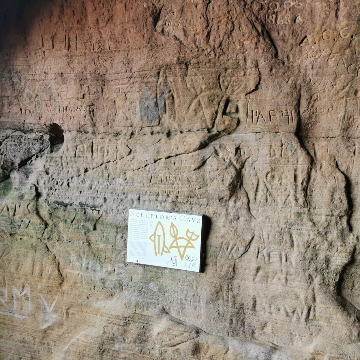 Carvings at Sculptors Cave