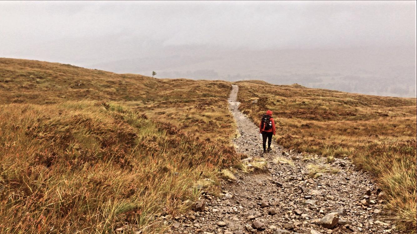 Girl walking west highland way