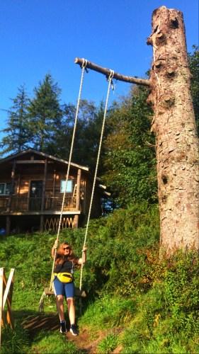 Tree swing on west highland way
