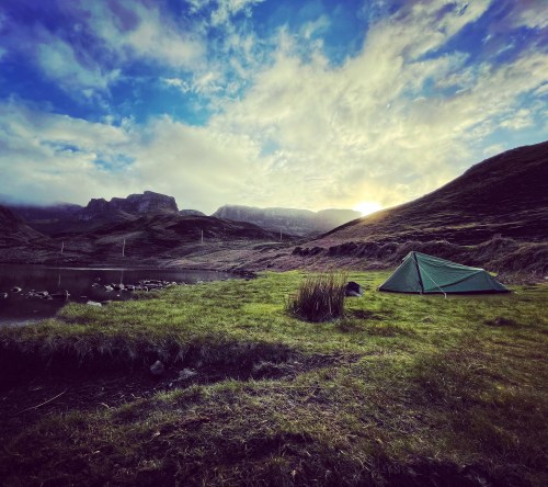 Wild camping on the skye trail