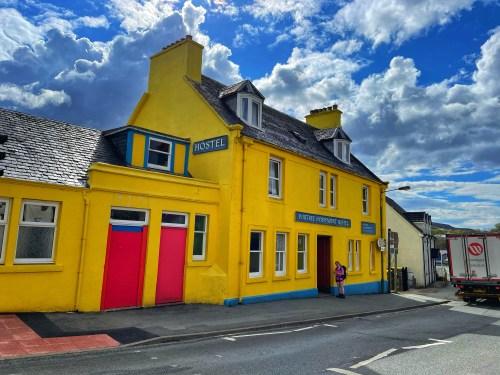 Yellow hostel in portree