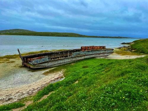 Shipwreck on outer Hebrides