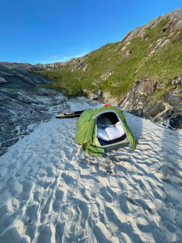 Camping on Luskentyre Beach