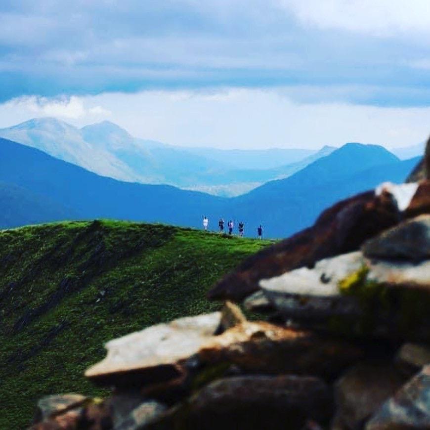 Walking along the Glen Shiel ridge