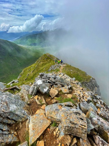 On way to Aonach Air Chrith between 2nd and 3rd Munro