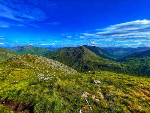 Views from creag Nan Damh final Munro