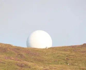 Golf ball radar station Tiree