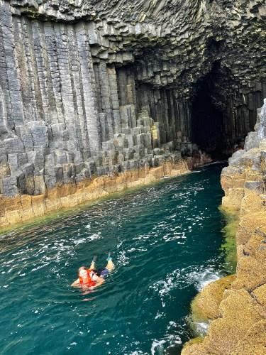 Fingals cave wild swim
