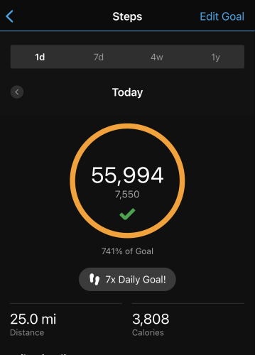 Dava way total step count
