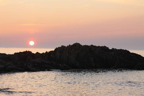 Sunset at balephetrish bay