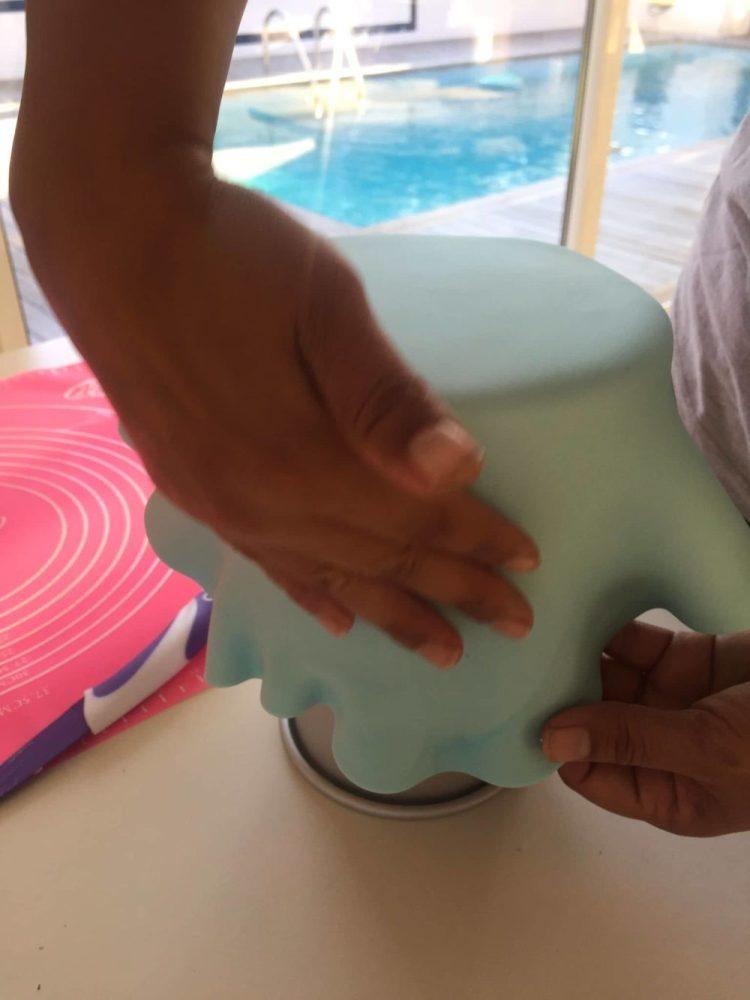 Finalizar pegamiento de la pasta