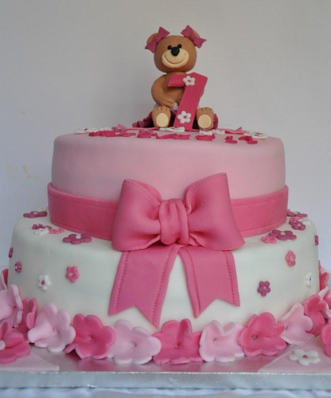 torte speciali:Torta di compleanno Orsetto in rosa