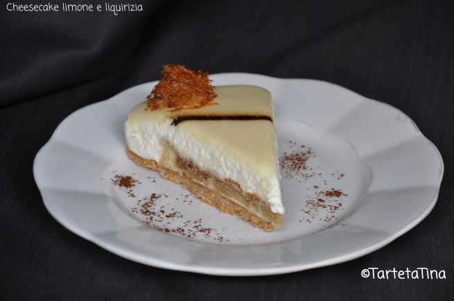 cheesecake limone e liquirizia