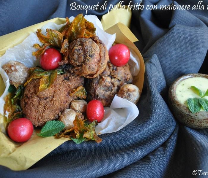 Bouquet di pollo fritto con maionese alla menta per MTC63