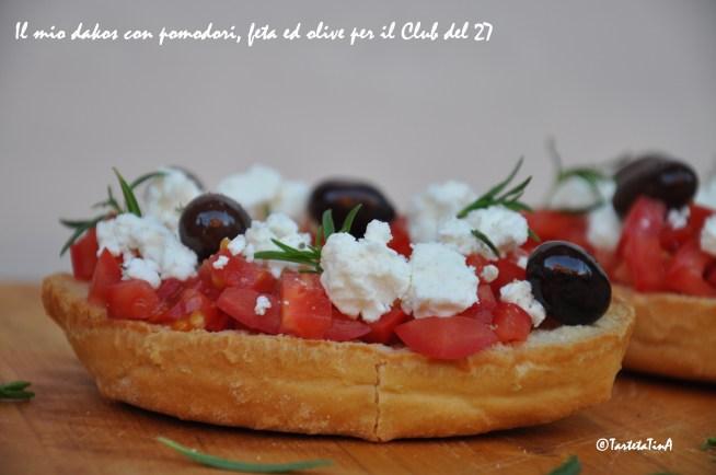 dakos con pomodori feta ed olive