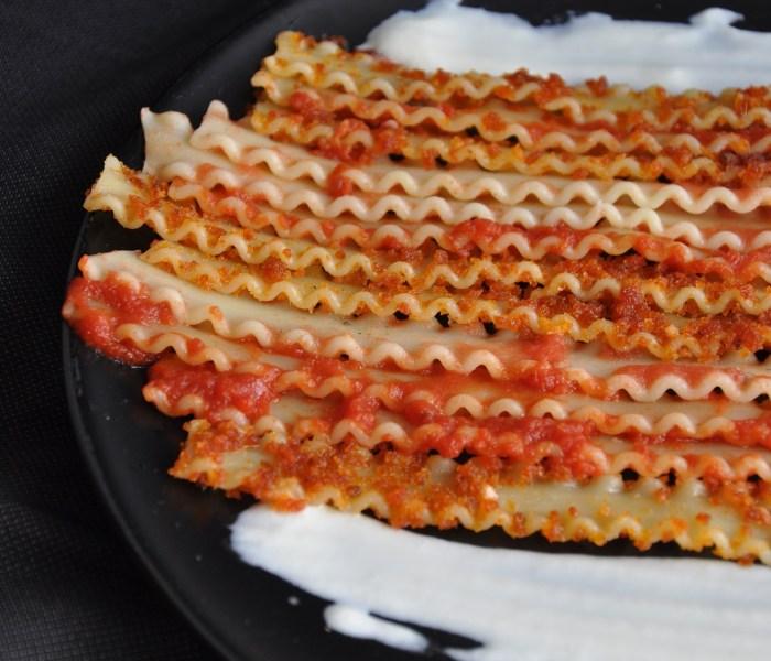 Sfumature di rosso-Reginette con pomodoro in 3 consistenze