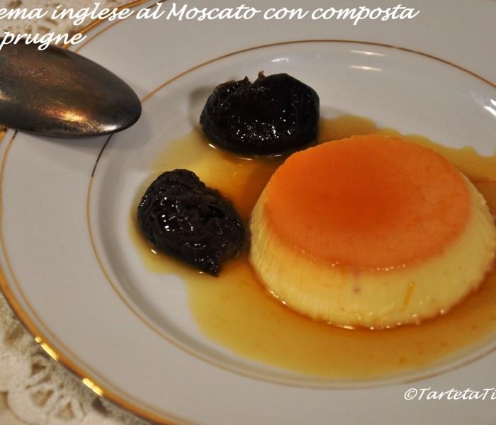 Crema inglese al Moscato con composta di prugne per il Club del 27