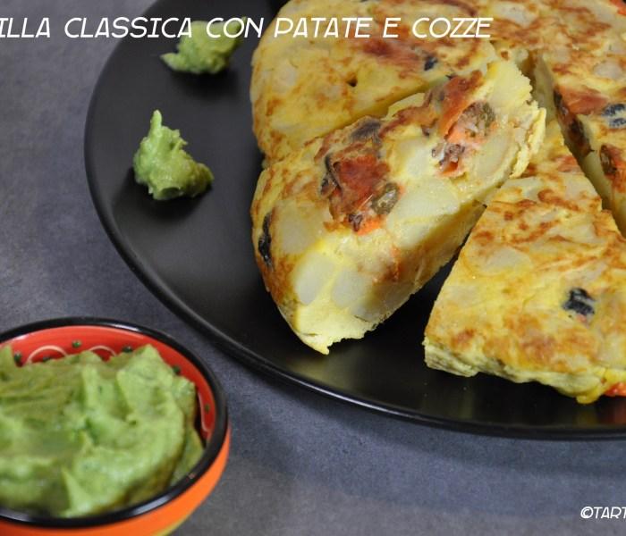 Tortilla classica di patate e cozze