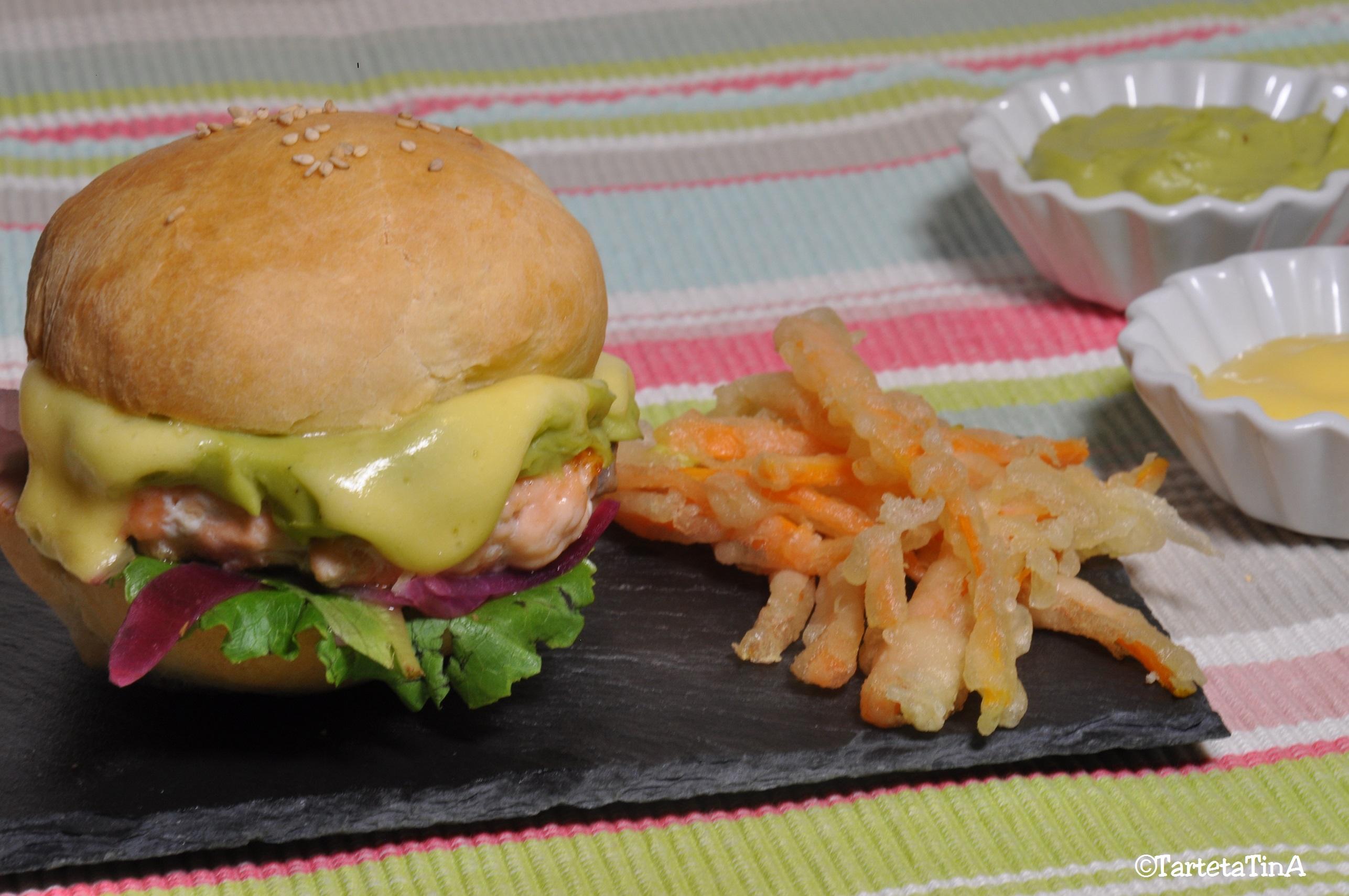Il mio hamburger salmone e avocado per il Club del 27