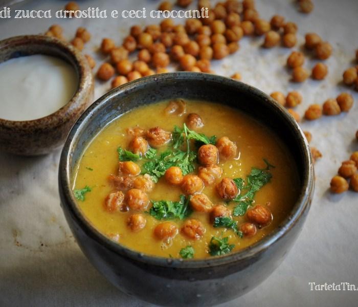 La  zuppa di zucca arrostita e ceci croccanti per il Club del 27