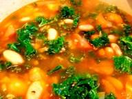 Pork Kale Butter Bean Soup