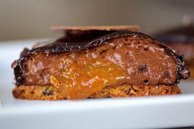 Mousse de chocolate negro y mandarina