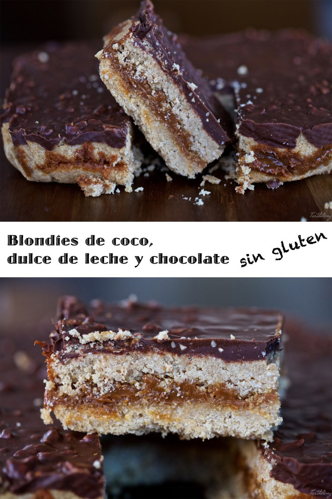 Blondies sin gluten