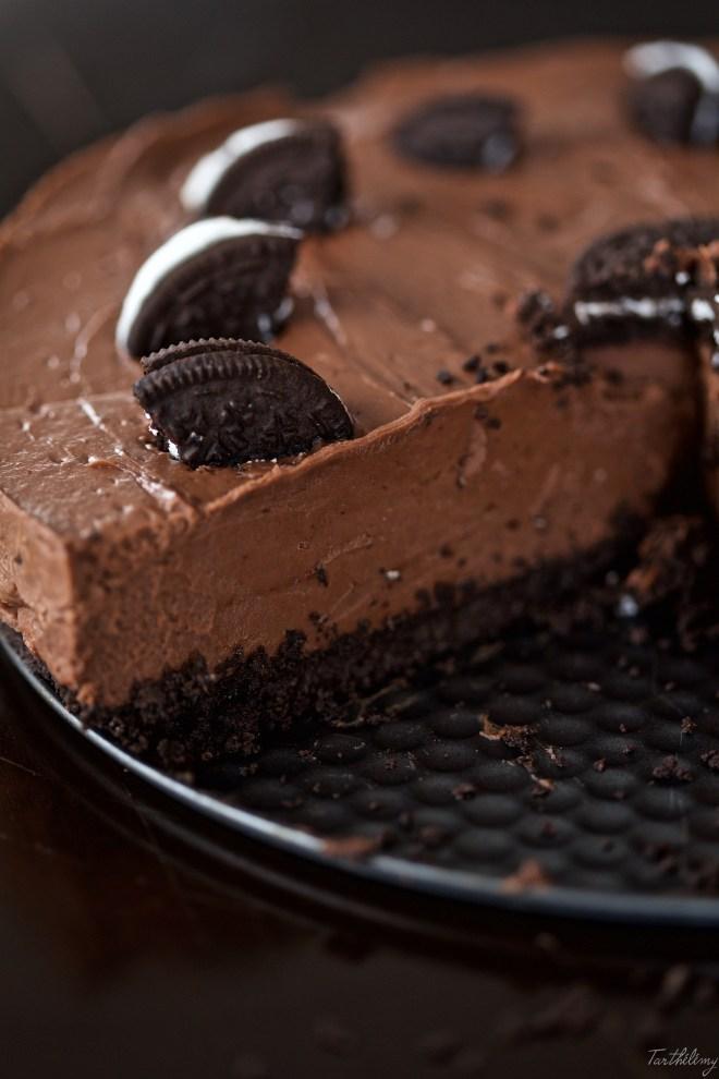 Cheesecake sin horno de nutella y oreos