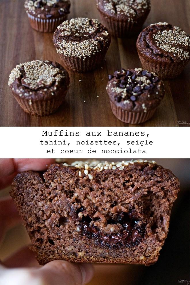 muffins à la banane et au tahini