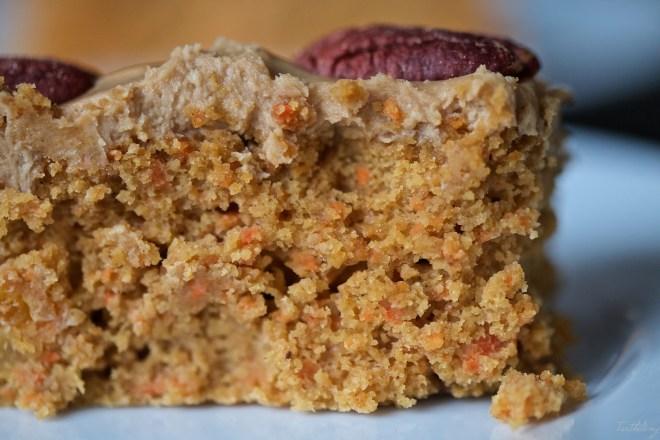 Tarta de zanahoria, yogur y avena