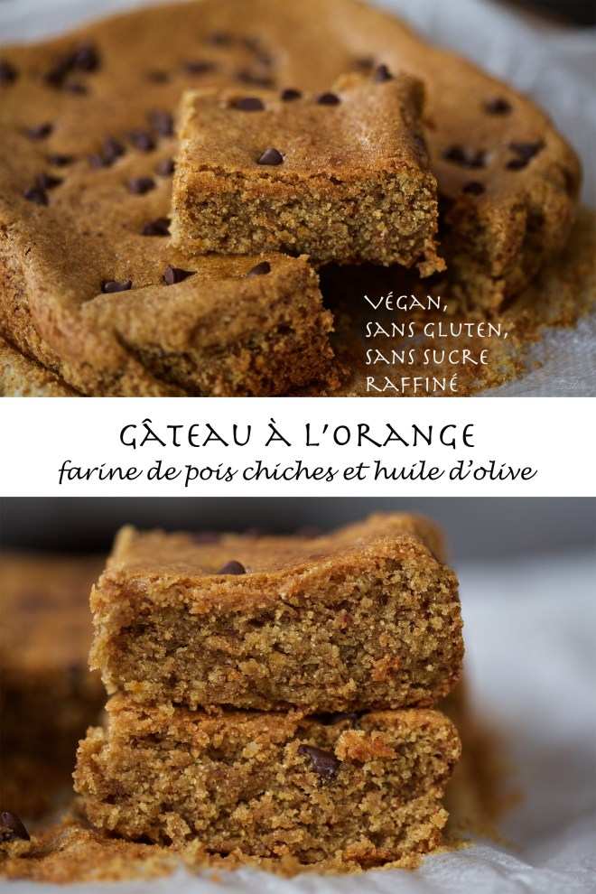 Gâteau à l'orange et farine de pois chiches