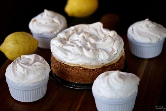 Tarta de queso y limón con merengue