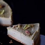 Tarta de queso y pistacho sin horno