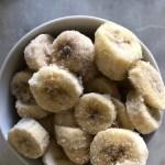 Bizcocho húmedo de plátano, vegano y sin gluten
