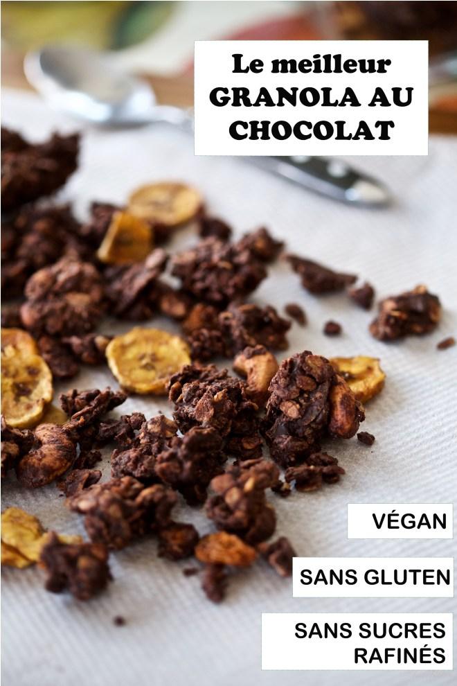 Le meilleur granola au chocolat