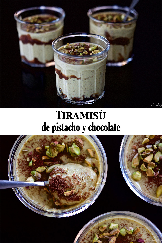 Tiramisù de pistacho y chocolate (paso a paso)