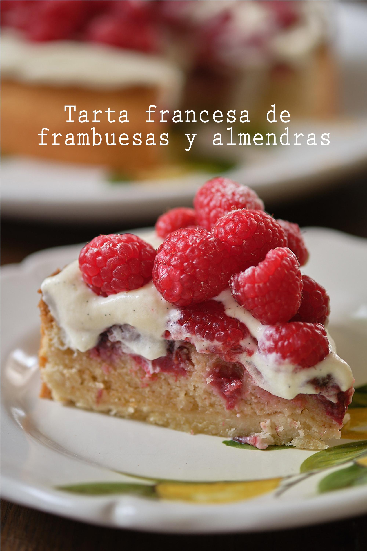 Tarta francesa de frambuesas y almendras (+ vídeo HD)