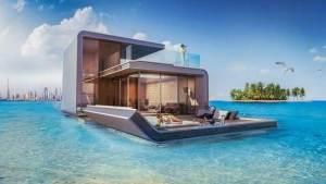 منازل في دبي نصفها فوق البحر والآخر تحت الماء