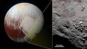ناسا تكشف النقاب عن شقوق جليدية تشبه العنكبوت على بلوتو
