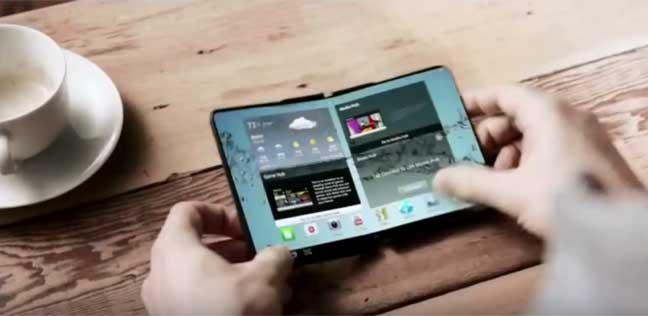 سامسونغ ستطرح هاتفها الذكي بشاشة قابلة للطي في 2017