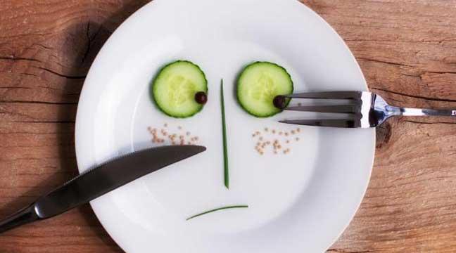 تناول كمية مأكولات قليلة لخفض الوزن أسطورة