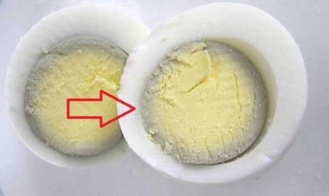 ماذا تعني هذه الدائرة الخضراء حول البيض؟