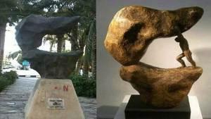 تقليد مشبوه بالسرقة لعمل نحات مصري