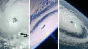 ناسا تلتقط صورا مدهشة لثلاثة أعاصير بيوم واحد
