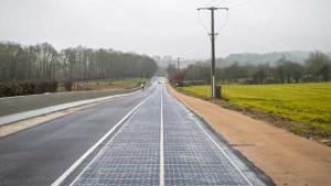 أول طريق بالطاقة الشمسية في العالم .. فرنسي
