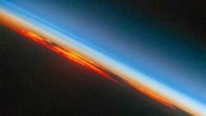 غروب الشمس من المحطة الفضائية الدولية