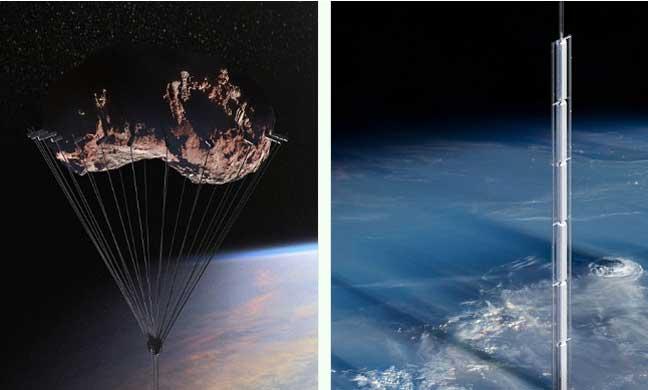 الخيال العلمي.. ناطحة سحاب تتدلى من السماء وتدور فوق الأرض