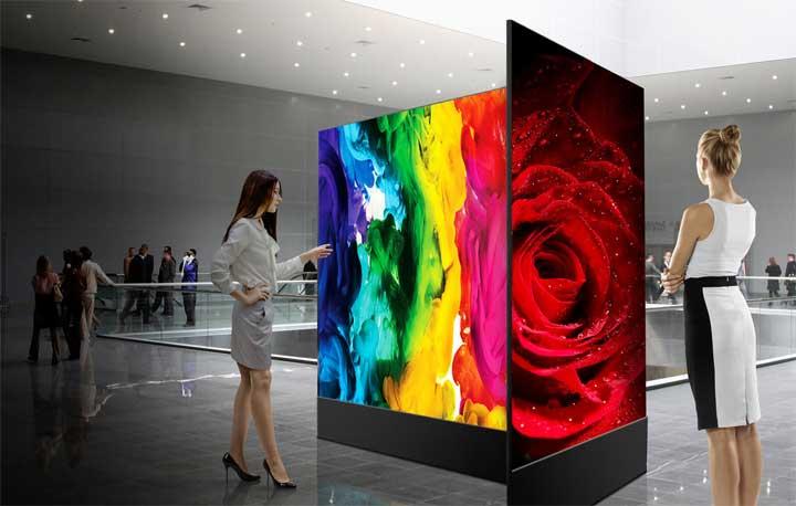 إل جي تستعرض أكبر شاشاتها المرنة